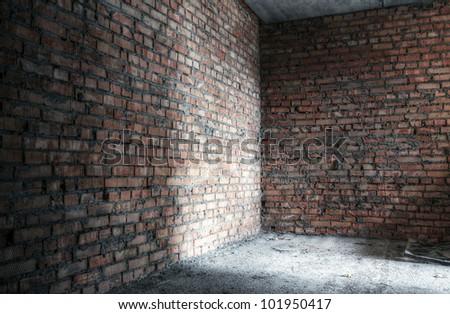 abandoned room, urban background - stock photo