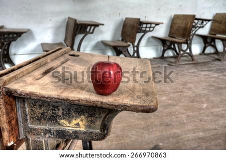 Abandoned School House one room Canada Saskatchewan - stock photo