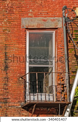 Abandoned Urban Apartment Building in Disrepair - stock photo