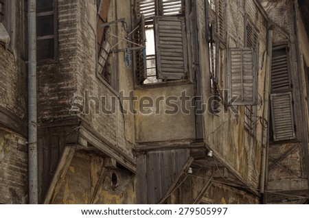 Abandoned Wooden  House - stock photo