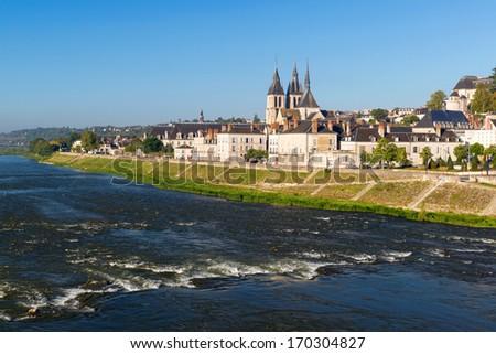 Abbaye Saint-Laumer in Blois, Loire Valley, France - stock photo