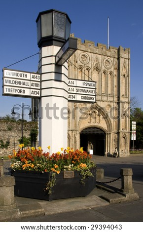 Abbey Gate, Bury St Edmunds, Suffolk UK - stock photo