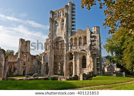 Abbey Jumieges; Altar Room, Normandy, France - stock photo
