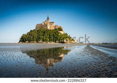 Abbey Mont Saint Michel, Normandy, France - stock photo
