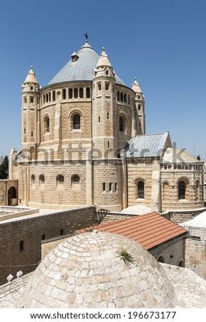 Abbey of the Dormition - Mount Zion, Jerusalem - stock photo