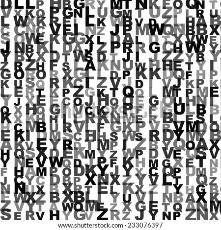ABC alphabet random letters for background - stock photo