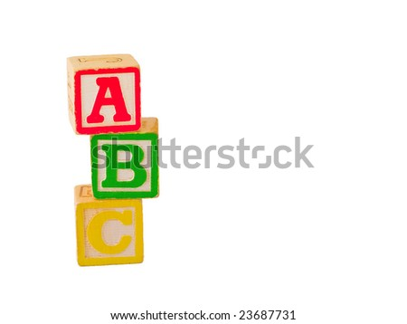 ABC Blocks Stagger Stacked - stock photo