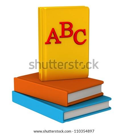 ABC books icon 3d - stock photo