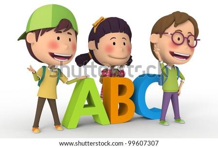 ABC Friends School - stock photo