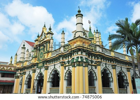 Abdul Gafoor Mosque Of Singapore Situated At Little India - stock photo