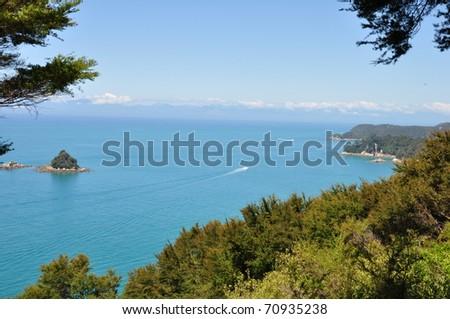 Abel Tasman Park, New Zealand - stock photo