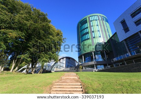 ABERDEEN SCOTLAND - 17 SEPTEMBER 2015 The Robert Gordon University (RGU) in Aberdeen on September 17, 2015. RGU is one of  the UK's top Universities in oil and gas industry. - stock photo