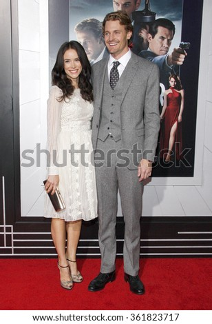 "Abigail Spencer and Josh Pence at the Los Angeles premiere of ""Gangster Squad"" held at the Grauman's Chinese Theatre in Los Angeles, USA on January 7, 2013. - stock photo"