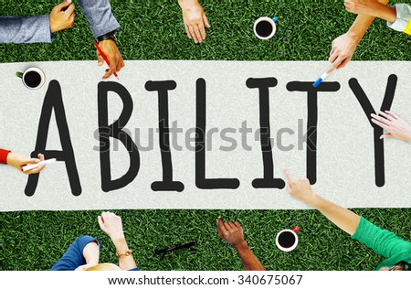 Ability Skilled Strategy Talent Vision Concept - stock photo