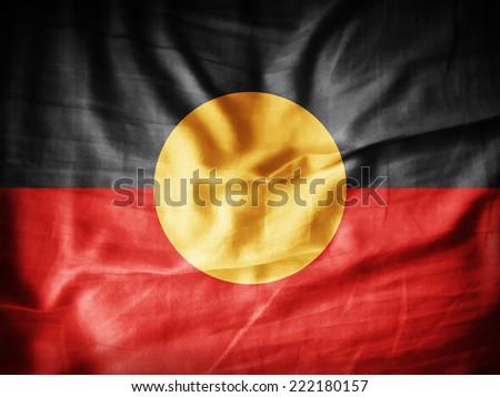 Aboriginal Australia flag - stock photo