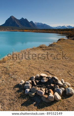 Abraham Lake Alberta Canada - stock photo