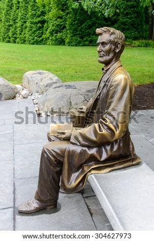 Abraham Lincoln Gettysburg Statue - stock photo