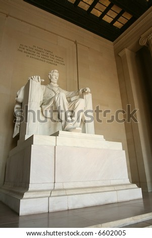 Abraham Lincoln Memorial, Washington D.C. - stock photo