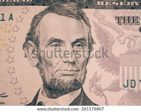 Abraham Lincoln portrait cutout - stock photo