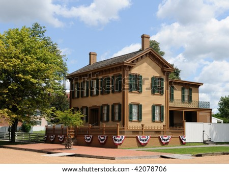 Abraham Lincoln Springfield House - stock photo