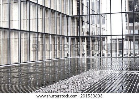 Abstact facade of a modern office building - stock photo