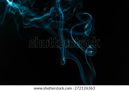 Abstact smoke isolated in black background - stock photo