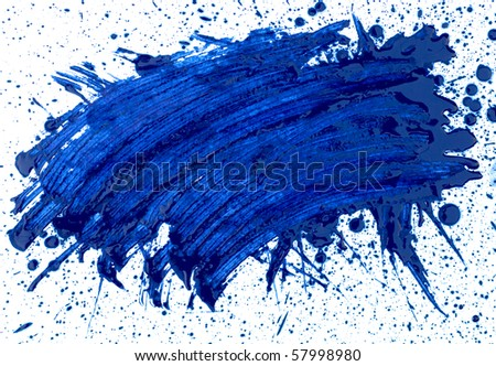 abstaract hand drawn watercolor blot, raster illustration - stock photo