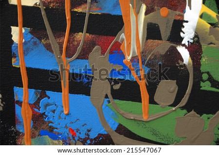 abstract acrylic painting, art texture - stock photo