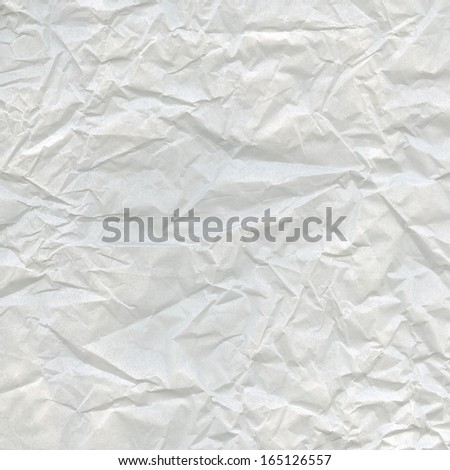 Abstract aged background - crumpled white paper texture, highly detailed   - stock photo