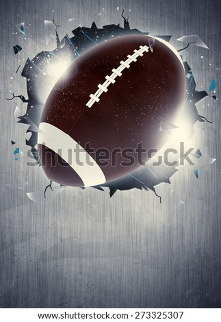 Abstract american football sport invitation poster or flyer background with empty space - stock photo