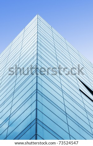 Abstract angle of glass building - stock photo