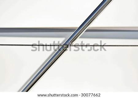 Abstract Angular Chrome Pole - stock photo