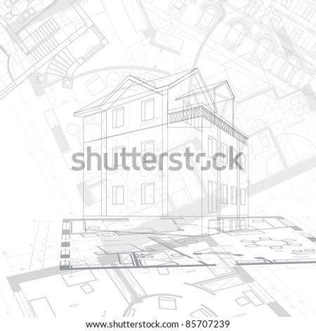 Abstract architectural background. - stock photo