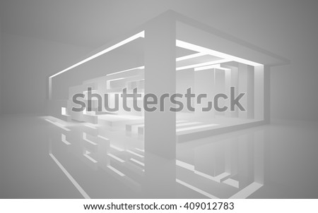 abstract architectural background of the polygons. 3D illustration. 3D rendering  - stock photo