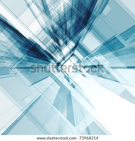 Abstract architecture background. 3d render - stock photo