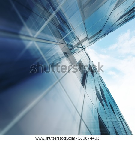 Abstract architecture. Building design and 3d model my own - stock photo