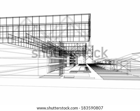 abstract architecture buildings - stock photo