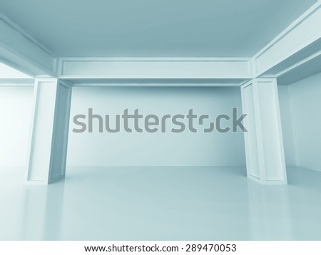 Abstract Architecture Design Column Background. 3d Render Illustration - stock photo