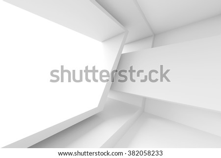 Abstract Architecture Design. White Modern Background. 3d Illustration - stock photo