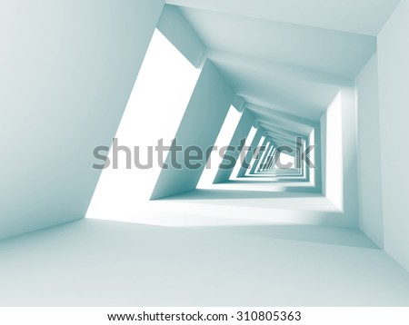 Abstract Architecture Futuristic Modern Background. 3d Render Illustration - stock photo