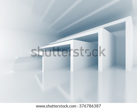 Abstract Architecture Modern Interior Background. 3d Render Illustration - stock photo