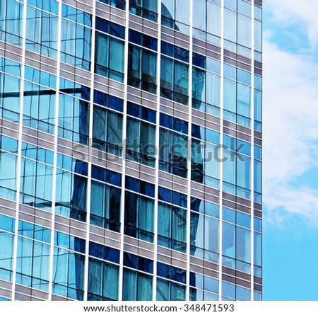 abstract architecture of a modern building - stock photo