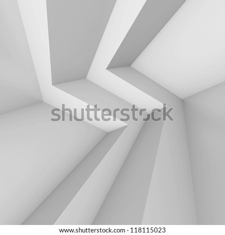 Abstract Architecture Rendering - stock photo