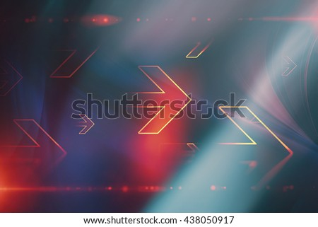 Abstract arrows technology background - stock photo
