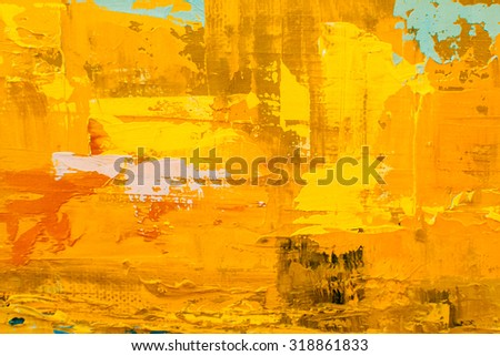 Abstract art background. Oil painting on canvas. Multicolor texture. Fragment of artwork. Spots of oil paint. Brushstrokes of paint. Modern art. Contemporary art. - stock photo