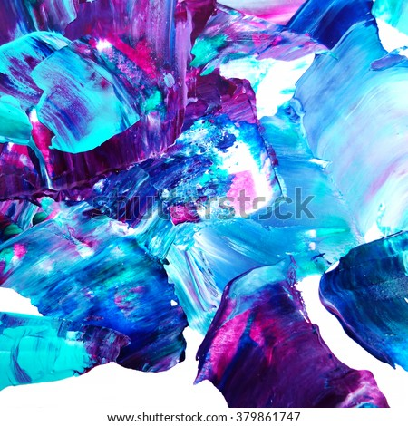 Abstract art background. Self made acrylic texture - stock photo