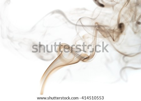 Abstract art. Colored smoke from the incense sticks on a white background. Background for Halloween. Texture fog. Design element. The concept of aromatherapy. - stock photo