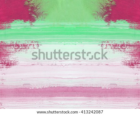 Abstract art painting ,Hand painted red and white on wood - stock photo