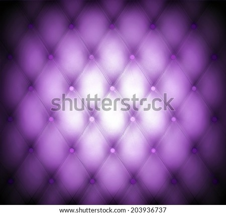 Abstract art skin background texture of an old natural luxury modern style leather with rhombs Classic light violet, dark purple grungy decor retro wall, door, sofa, studio interior with metal buttons - stock photo