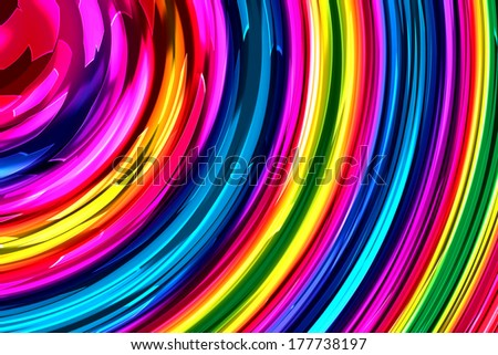 Abstract art swirl rainbow colorful background  - stock photo